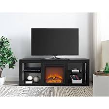 Black Electric Fireplace Ameriwood Home Parsons Electric Fireplace Tv Stand For Tvs Up To