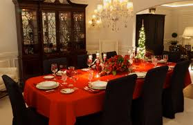 decorations modern christmas dining decoration ideas with pine