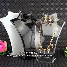 necklace earring display images Fashion jewelry display bust acrylic storage box mannequin jewelry jpg