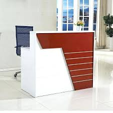 White Salon Reception Desk Surprising Salon Reception Desk Design Half Round Unique Duties