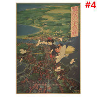 miyazaki hayao comic kraft paper poster retro anime poster bar