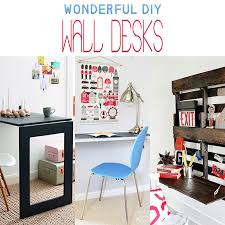 Diy Wall Desk Wonderful Diy Wall Desks The Cottage Market