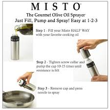 Kitchen Tools And Equipments And Their Uses Amazon Com Misto Brushed Aluminum Olive Oil Sprayer Kitchen U0026 Dining