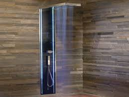 bathroom corner shower and glass shower enclosure with wall
