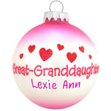 personalized great granddaughter glass ornament family special