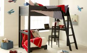 High Sleeper Bed With Futon Fargo Painswick Blue High Sleeper With Futon And Desk Lost Boys