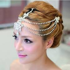 hair pieces for wedding silver plated indian hair accessories jewelry