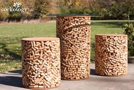 recycled wine cork stopper stool set