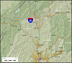 interstate 26 map i 26 corridor of change southern spaces