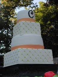 coral wedding cakes it s a of cake lime green and coral wedding cake