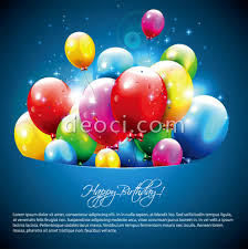 Birthday Card Ai Free Happy Birthday Colorful Balloons Greeting Card Cover Blue