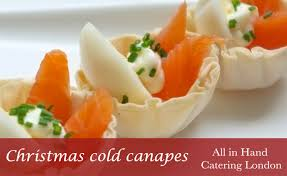 traditional canapes cold canapés for corporate catering