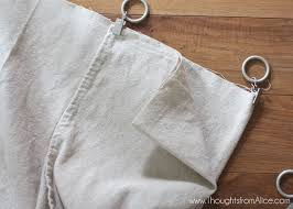 5 minute no sew drop cloth curtains