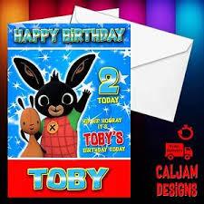 bing personalised birthday card cbeebies brother sister