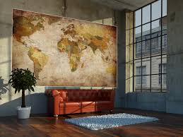 world map photo wallpaper mural vintage retro motif xxl world map