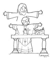 9 images of priest at mass coloring page priest coloring page