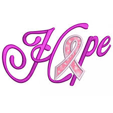 cancer applique with ribbon machine embroidery digitized design