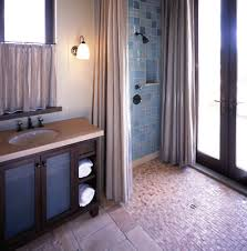 bright shower stall curtains in bathroom traditional with floor to