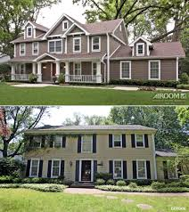 before and after home exteriors new in cute two story houses ranch
