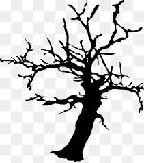 black halloween tree halloween black tree trees png and vector