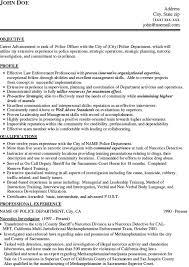 Special Police Officer Resume Warrant Officer Resume Form Resume Ideas