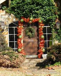 christmas door decor stalking southern fried gal