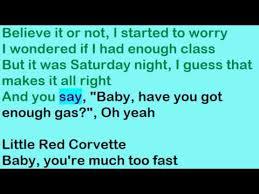 prince corvette lyrics corvette prince lyrics