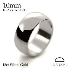 18ct white gold wedding ring handmade mens 18ct white gold 4mm d shape wedding ring light