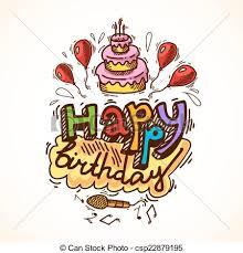 eps vectors of birthday card sketch happy birthday sketch