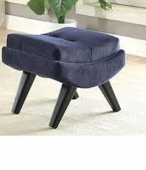 Chair W Ottoman Esmeralda Chair W Ottoman Navy Cm Ac6839nv Doria Furniture