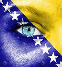 Flag Of Bosnia Bosnia And Herzegovina Supporter Images U0026 Stock Pictures Royalty