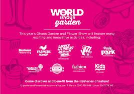 garden and flower show ghana garden and flower show begins 10th september 2015 ghkwaku com