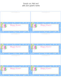 printable name place cards free printable easter place cards party favors at kid scraps
