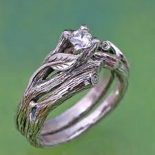 natural rings images The acadia wedding ring set gold and natural ringscollection jpg