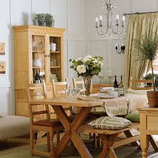 White Wood Dining Room Table by Solid Wood Dining Chairs With Table And Bench And Hutch In Country