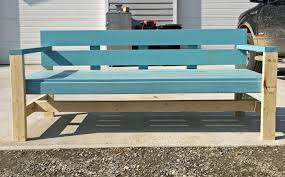 Outdoor Wooden Bench Plans To Build by Ana White Modern Park Bench Diy Projects