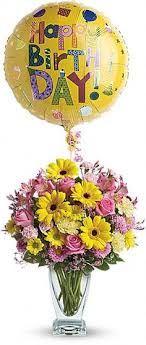 30th birthday flowers and balloons rosy birthday present bouquet at jacqueline s flowers gifts