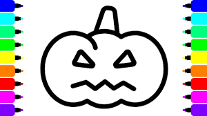 how to draw angry pumpkin halloween coloring pages for kids youtube