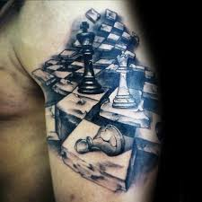 tattoo gallery chest pieces 60 king chess piece tattoo designs for men powerful ink ideas