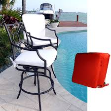 Sunbrella Outdoor Cushion Outdoor Rectangle Bar Stool Cushions For Seat And Backrest