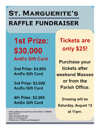 gift card fundraiser parish raffle fundraiser 30 000 1st prize