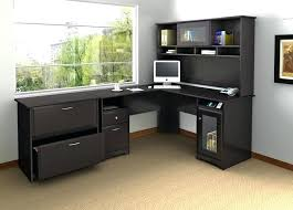 Black L Shaped Desk With Hutch Black L Shaped Desk L Shaped Desk Black Glass Computer By Office
