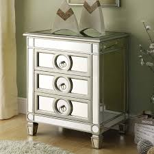 Mirrored Night Stands Nightstand Mirrored Night Stands Within Superior Shop Monarch
