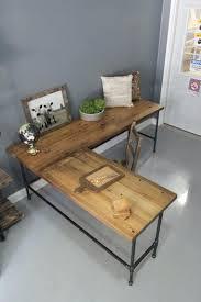 reclaimed wood l shaped desk reclaimed wood office desk industrial l shaped desk reclaimed wood