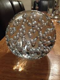 bowling size decorative glass ornament sphere with large