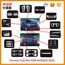 toyota avanza philippines selling chrome full chrome kits car accessories for toyota