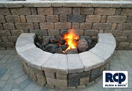 Brick Fire Pits by Rcp Block U0026 Brick Fire Pit Masonry Images Proview