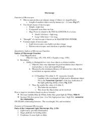 compound light microscope function micrb 201 lecture 3 outline 3 oneclass
