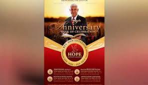 Church Programs Template Church Anniversary Service Program Template Inspiks Market