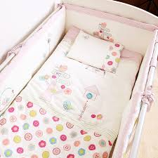 Bed Linen For Girls - aliexpress com buy 7pcs pink baby crib bedding set for girls
